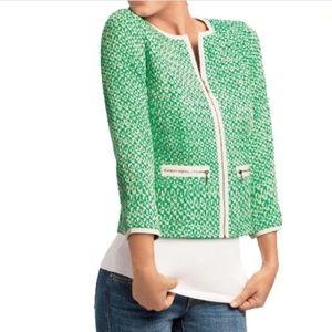Cabi Clover Tweed Jacket Sz 6 Full Zip Blazer
